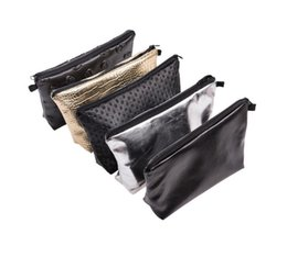 Женская косметическая сумка Геометрическая складная сумка Lingge pure pu leather составляют сумки для женских косметических сумок a371