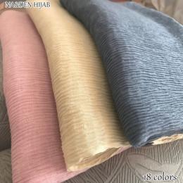 $enCountryForm.capitalKeyWord NZ - NEW Skin pleated hijab scarf plain crinkle shawl fashion muslim hijabs women maxi scarves shawls islamic scarfs 18 color hot sal