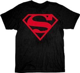 Tee Designs NZ - Adult Men'S Dc Comics Super Hero Factory Outlet Red Shield Logo Black T-Shirt Tee T-Shirt Men Latest Design Short Sleeve Fashion Custom 3XL
