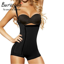 0a5da98ec9 Burvogue Hot Shaper Slimming Waist Trainer Shapewear Tummy Control Underwear  Butt Lifter Latex Zipper Body Shaper For Women