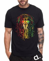 cfc868b41 Camiseta de algodón de moda envío gratuito hombres de cuello redondo manga  corta Rasta Lion Reggae Premium Tee Shirts