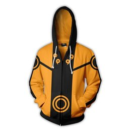 $enCountryForm.capitalKeyWord Australia - 2018new fashion Cool sweatshirt Hoodies Men women 3D print NARUTO UZUMAKI ZIP UP Tee hot Style Streetwear Long sleeve clothing