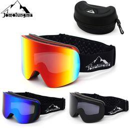 $enCountryForm.capitalKeyWord Canada - Jomolungma Ski Goggles With Case Double Cylindrical Lens Anti Fog Polarized UV400 Men Women Snow Skiing Snowboard Glasses TG800C
