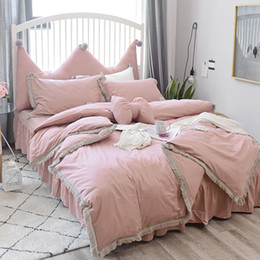 Luxury Elegant Bedding Australia   European Luxury Pure Color 100% Cotton Bedding  Sets Tassel Duvet