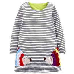 Red White Blue Tutus UK - Princess Costume Baby Girls Dress 2018 Brand Tunic Dress Kids Clothing Applique Robe Fille Cotton Children Dresses