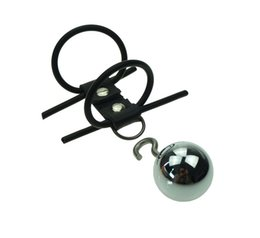 $enCountryForm.capitalKeyWord Australia - Penis Enlargerment Extender Weight Stretcher Double Penis Rings Metal Ball Sex Toys for Men