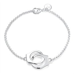 Top China Wholesale Fashion Jewelry Australia - 2016 Hot new designs silver handcuffs chain bracelet fashion jewelry wedding gift for woman Top quality Factory Outlet