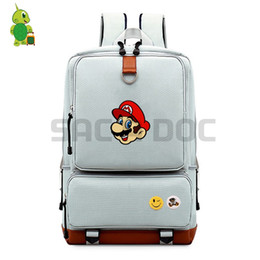 super mario women 2019 - Super Mario Bros Women Men Canvas Backpack School Bags for Teenagers Students Large Capacity Travel Rucksack Laptop Back