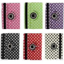 Polka Dot 360 gradi di rotazione magnetica in pelle PU Custodia Smart Cover Grape Grain modello per ipad Mini 2 3 4 5 6 Air 2 Nuovo iPad 9.7 2017