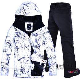 Warm Waterproof Pants Men Australia - 2018 Men Ski Jacket Pant Skiing Snowboard Clothing Trouser Windproof Waterproof Outdoor Sport Wear Male Super Warm Suit Winter