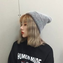 ee7f2cc1a38 Woollen hat for women autumn warm thick rabbit hair pile knitted hat for  men Korean version casual wear hats for women winter tide
