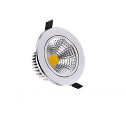 Wholesale COB Led Downlights W W W W W Dimmable Non Dimmable Home lighting Warm Cool White LED Ceiling lights AC85 V With Power Drivers