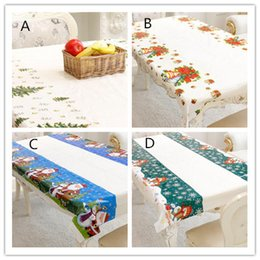 RectangulaR table cloth coveR online shopping - New Festive Merry Christmas Rectangular Tablecloth Kitchen Dining Table Covers Christmas Decorations for Home Natal Noel New Year Decoration