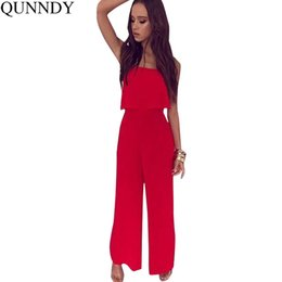 899706b6601 wholesale Jumpsuits For Women Sexy Playsuit Summer High Street Style  Elegant Off Shoulder Jumpsuit Rompers Loose Pants Trousers