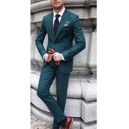 grey suit men fashion Canada - Men Suits For Wedding 2Pieces(Jacket+Pant+Tie) Fashion Costume Homme Terno Masculino Men Groom Blazer