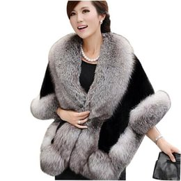 Chinese  2018 fashion Mink Rabbit Autumn and Winter warm shawls New wedding Fox Fur Vest gilet outerwear women's Faux Fur coat manufacturers
