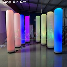 $enCountryForm.capitalKeyWord NZ - 8 pcs best selling background led decoration inflatable tube column,changing lighting air blown pillars made by Ace Air Art
