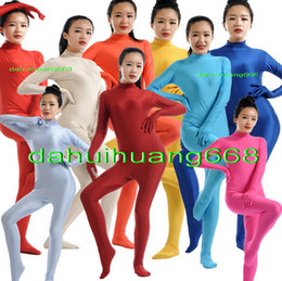 fancy grey dresses NZ - Sexy Body Suit Costumes New 23 Color Lycra Spandex Suit Catsuit Costumes Unisex Bodysuit Outfit Halloween Fancy Dress Cosplay Costumes DH002