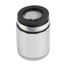 Faucet Kitchen Shower UK - Temperature Sensor LED Light Water Faucet Tap Glow Shower Kitchen Bathroom RGB Multi Color Blue Dropshipping