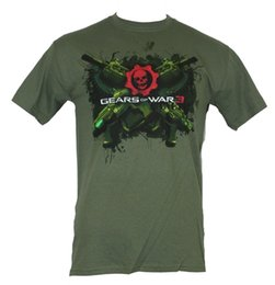 Chinese  Gears of War 3 Mens T-Shirt -Crossed Green Guns Logo Image manufacturers