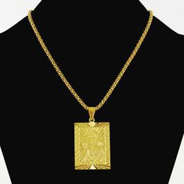 005f617a86ac Joyas de Hiphop de moda para niño de los hombres 24 K Color oro puro  colgantes cuadrados Collar Chapado en oro de la vendimia Collares Cadena de  palomitas ...