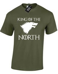 $enCountryForm.capitalKeyWord Australia - KING OF THE NORTH MENS T-SHIRT COOL GAME OF SNOW JON KHALEESI THRONES DIREWOLF Funny free shipping Unisex Casual