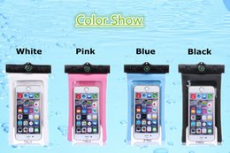 Waterproof Cellphone Case Universal NZ - Waterproof Case Bag PVC Protective Universal Cellphone Case Pouch With Compass Bags Diving Swimming for iPhone 6 7 8S Plus iPhone X Samsung