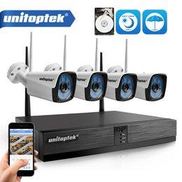 4ch 720P HD беспроводной NVR комплект P2P 720p 1.0 MP крытый открытый ИК ночного видения подключи и играй камеры безопасности WIFI системы видеонаблюдения XMEye