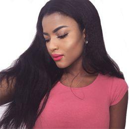 $enCountryForm.capitalKeyWord NZ - Brazilian coarse yaki Human Hair Wigs front lace For Black Women Brazilian Pre Plucked full lace Wigs