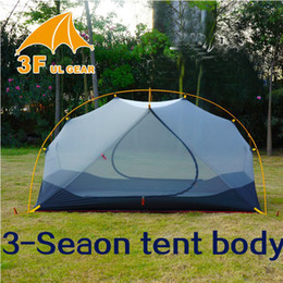 Gear Doors Australia - 2019 3F UL GEAR 4 Season 2 Person Tent Vents Ultralight Camping Tent Body for Inner Tent