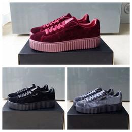 5830932a3 PUMA shoes Fenty Creeper Rihanna Mujeres Basket Plataforma Zapatos Casuales  Terciopelo Cuero Cracked Suede Hombre Negro Blanco Rojo Verde para hombre  ...