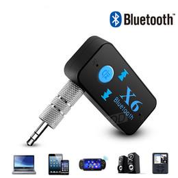X6 Adaptador Bluetooth 3-en-1 Inalámbrico 4.0 USB Receptor Bluetooth AUX 3,5 mm Jack de audio TF Lector de tarjetas MIC Llamada Soporte Altavoz para automóvil en venta