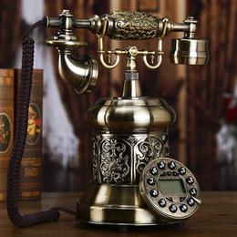 EuropEan tElEphonE antiquE online shopping - European antique telephone American creative fashion retro classic metal home office button landline