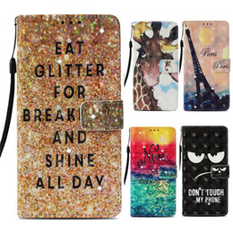 Lg diamond waLLet online shopping - 3D PU Wallet Cases for iPhone XR XS Max Plus Card Pocket Diamond Glitter Flip Cover Case for Samsung Galaxy Note9 S8