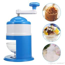 grinding machine mini 2018 - Household Handhold Manual Ice Crusher Hand Crank Mini Ice shaving Machine Snow Cone Smasher DIY Ice Cream Grinding Machi