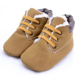 Discount newborn baby leather moccasins - Baby Shoes Suede Leather Moccasins Winter Baby Booties Infant Shoes Boy Girls Newborn Shoe Kids Footwear First Walker