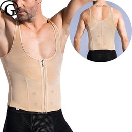 53e6f0eb8b New Men Magnetic Control Belly body Shaper Back Support tops slimming waist  tummy trimmer corset hold abdomen shapers
