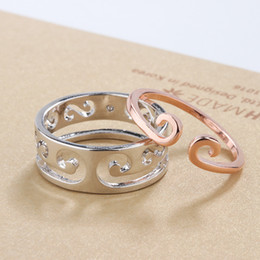 159ffa6888 matching couples jewelry 2019 - Exotic Style Couple Ring Men Women Pair Ring  Brass Matching Jewelry