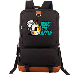 apple zipper bags UK - Mac backpack Skull apple daypack Human skeleton schoolbag Leisure rucksack Sport school bag Outdoor day pack