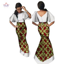 067f5bda075 New Arrivel African skirt set for women lace top and print wax skirts  africa 2 Piece sets women african clothing WY1183