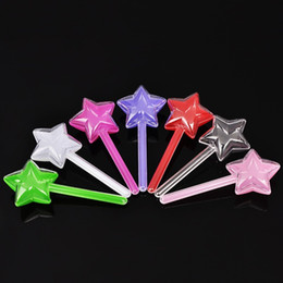 Sugar pulp online shopping - New Arrival Candy Box Plastic Five Pointed Star Stick Shape Sugar Organizer Durable Transparent Wedding Favor Boxes Hot Sale nt B