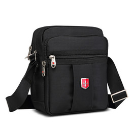 ce235fe8c6f7 New Swiss Brand Men s Handbags Messenger Shoulder Bag crossbody Waterproof  bag Oxford Black Bags Unisex Vintage Crossbody Bag