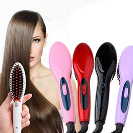 Straightening iron combS online shopping - Electric hair straightener brush Hair Care Styling Comb Auto Massager Straightening Irons SimplyFast Hair iron
