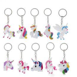 $enCountryForm.capitalKeyWord Australia - hot sale Unicorn Keychain Keyring Cellphone Charms Handbag Pendant Kids Gift Toys Phone Decoration Accessory Horse Key Ring wholesale