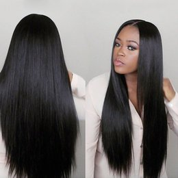 Straight Wigs For Black Women Australia - Human Hair Lace Front Wigs Peruvian Indian Malaysian Brazilian Virgin Hair Lace Wigs for Black Women Straight Hair Lace Frontal Wigs