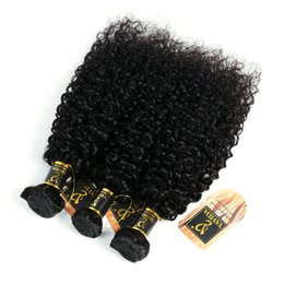 Dhgate Curly Hair NZ - wholesale curly human hair afro kinky hair extensions 3 bundles virgin brazilian hair natural color dhgate china supplier