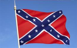 1 stücke 90x150 cm Rebel Bürgerkrieg Flagge Amerika National Confederate Battle Flags Zwei Seiten Gedruckt Flagge Confederate Polyester Flags im Angebot