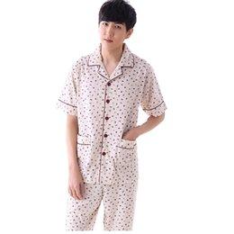 d89d6bcac0 8 Fotos Pijama de punto en venta-Pijamas de hombre Primavera Verano 100%  Algodón de punto