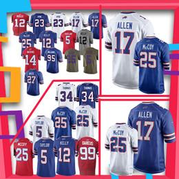 17 Josh Allen Buffalo Bills jerseys 25 LeSean McCoy 49 Tremaine Edmunds 34  Thurman Thomas 25 LeSean McCoy 12 Jim Kelly jersey 458584ed2