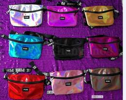 9 colori rosa lettera stampato laser marsupio arcobaleno ologramma lucido cinturini lucidi traslucido impermeabile borse da spiaggia cca9893 20 pz in Offerta